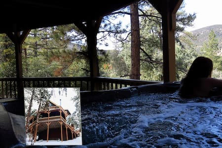 BREATHTAKING MOUNTAIN VIEWS 3BR/3BATH SPA HOT TUB - Pine Mountain Club - Blockhütte