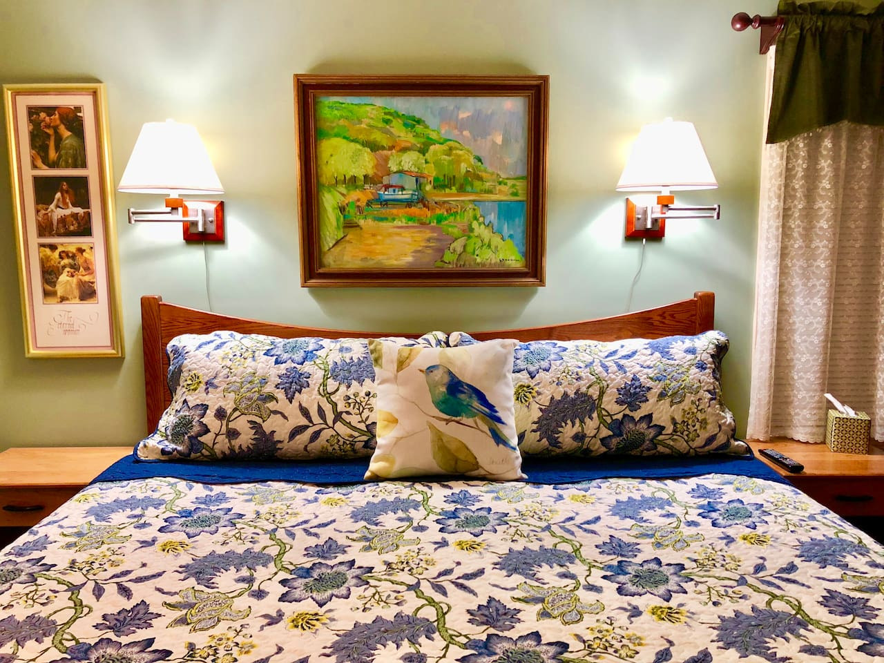 King size bed in private bed room. Our guest tell us this is the most comfortable bed they have ever slept in.