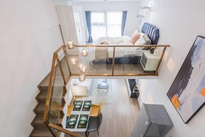 近北站万达广场loft两室一厅酒店式公寓整租