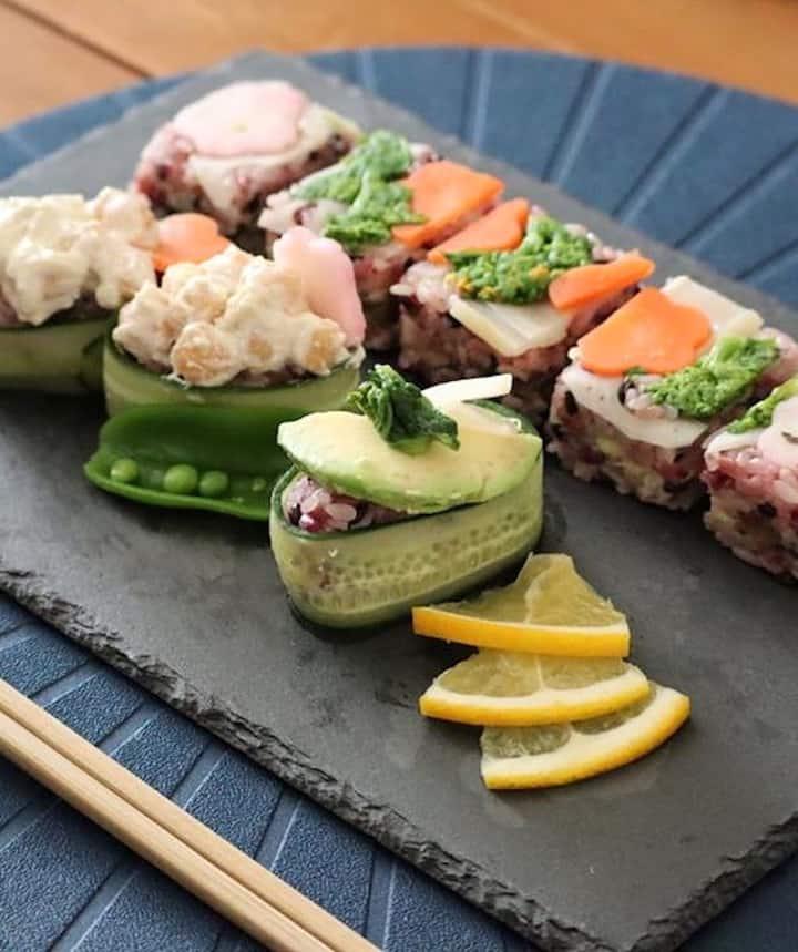 Pressed Veggie Sushi