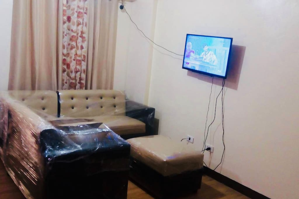 The living room with LED cable tv