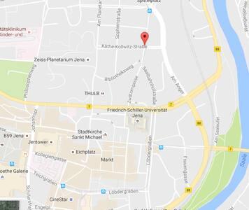 Jenaer-WG-Wohnung im schönen Damenviertel/Zentrum - Apartamento