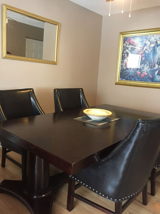 Large dining room table for 6
