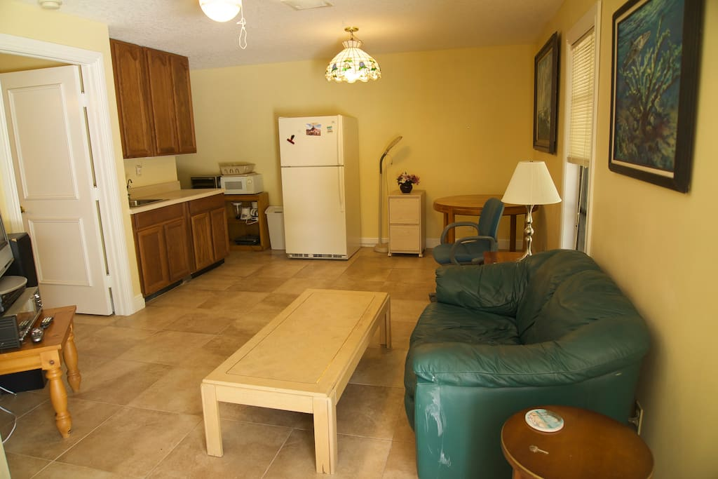 living area and kitchen private entrance,
