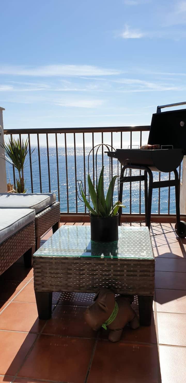 Ático con terraza frente al mar