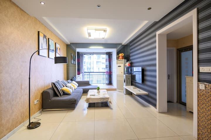 「梦居2」南岸西区林中漫步舒适两室 近财富中心 高铁站