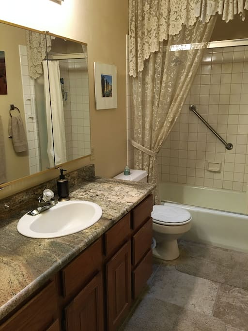 roomy private bathroom