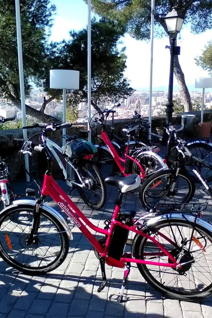 E-bike ride on the Gibralfafo hill