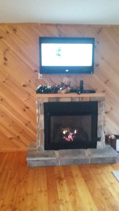 Gas fireplace, TV With Dish network and WIFI.
