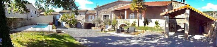Gîte des Granges Sud Ardèche Vogüé Calme Reposant