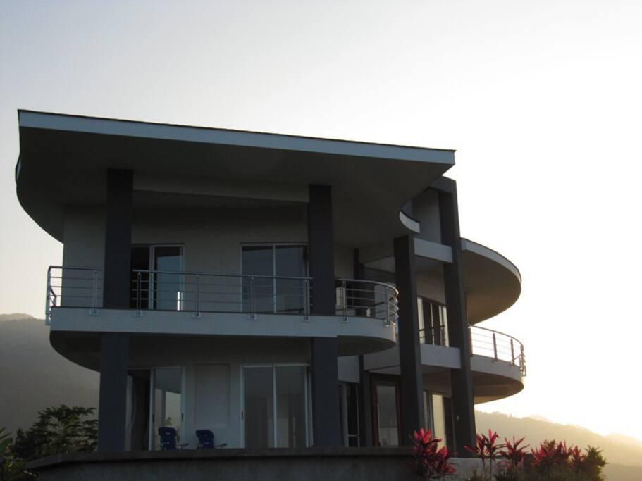 Side of Villa at Dawn