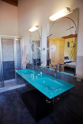 Toilet inside Peace & Love room