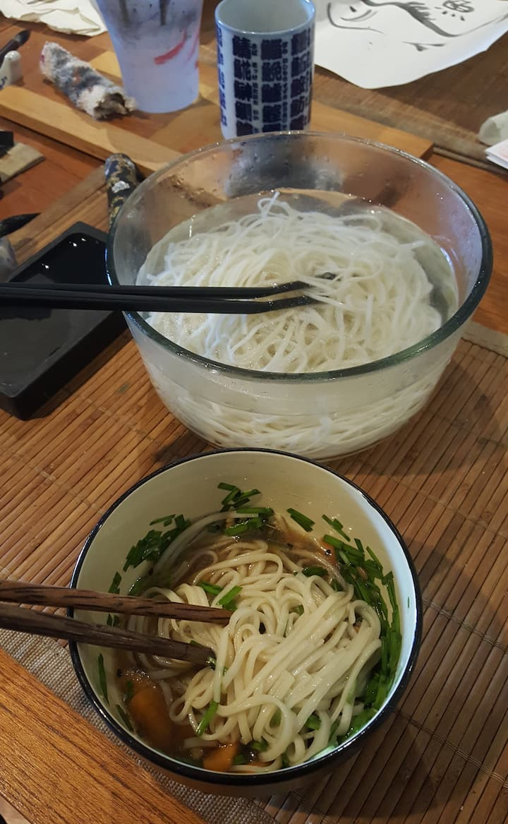 Make Soba Noodles during lunch break