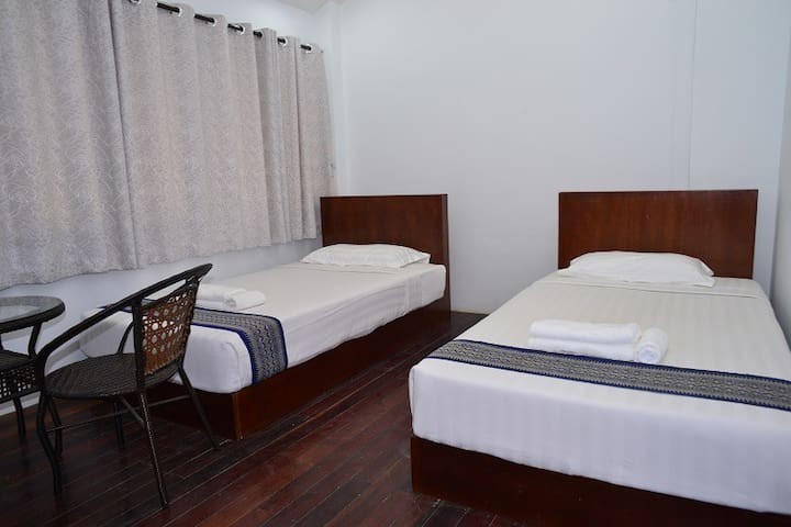 Twin room with shared bathroom 1 - Yangon