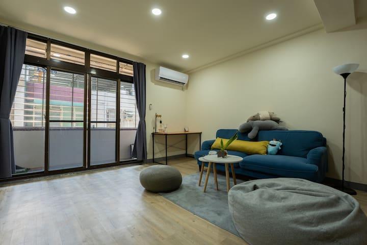 Taoyuan 河馬的窩  日租公寓  雙人雅房  (近中原夜市/中壢車站)  舒適休閒空間