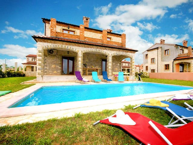 Holiday house in Croatia 4* -Istra, Stone villa - Čabrunići - Дом