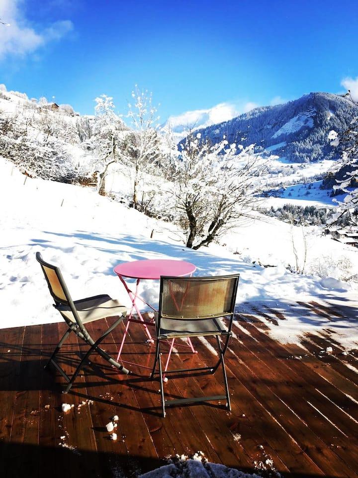 Appartement vue Mont-Blanc entièrement rénové