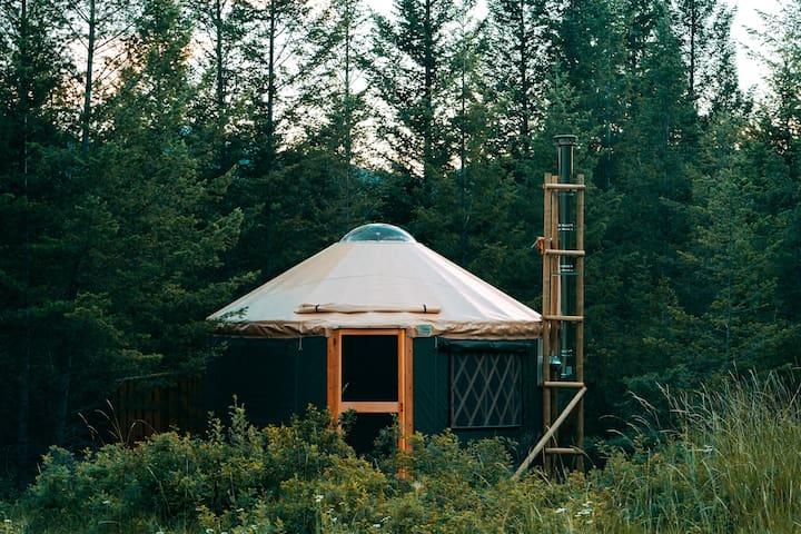 Hike In Yurts @ Radius - THE BURROW
