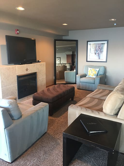Living Space with pull out sofa