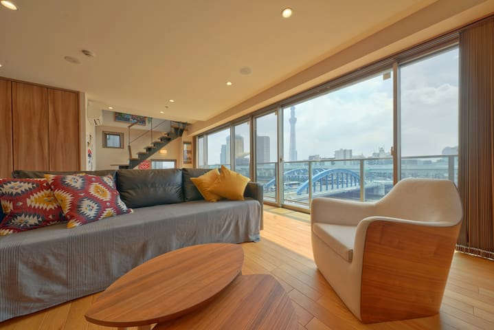 YADOYA Premium Suite No.1 ASAKUSA riverside view