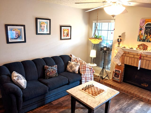 Clean Sofa Bed in living room space in DFW, TX