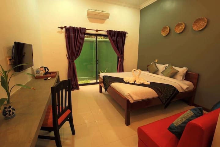 Deluxe Double Room Sakun Angkor Boutique with Balcony