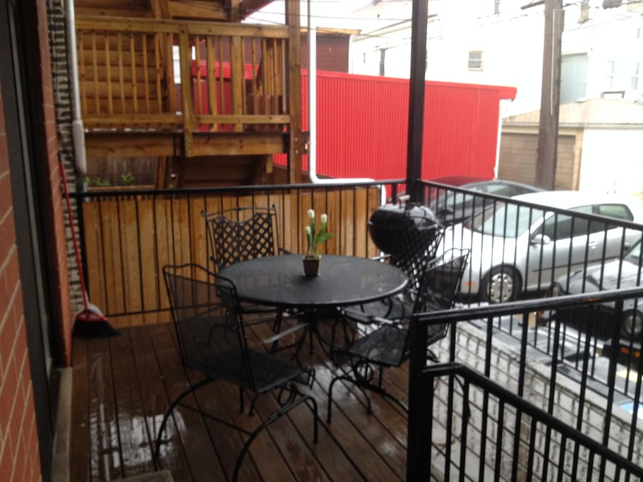 Access to seating on patio.