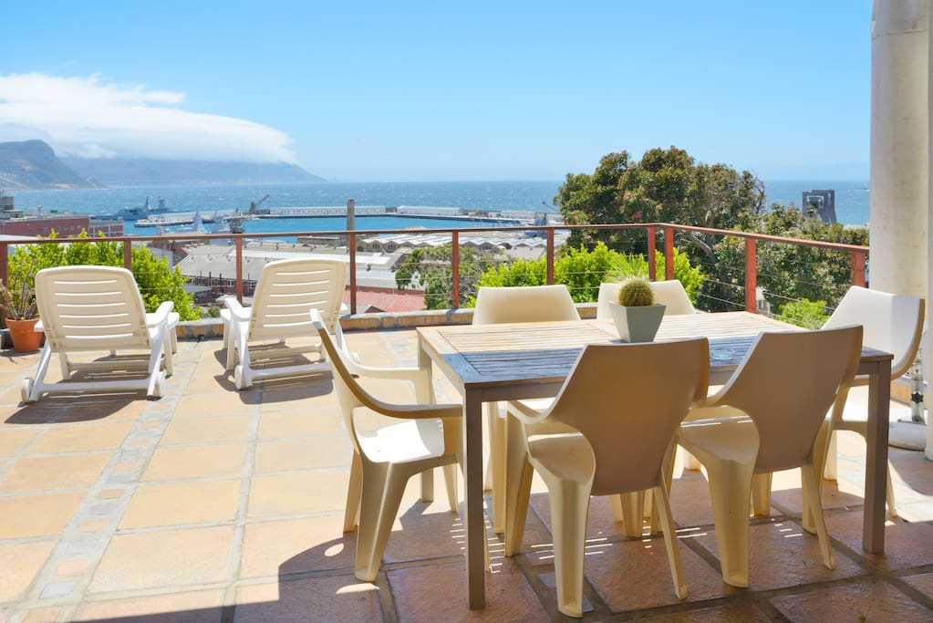 Private veranda with fabulous views over False Bay