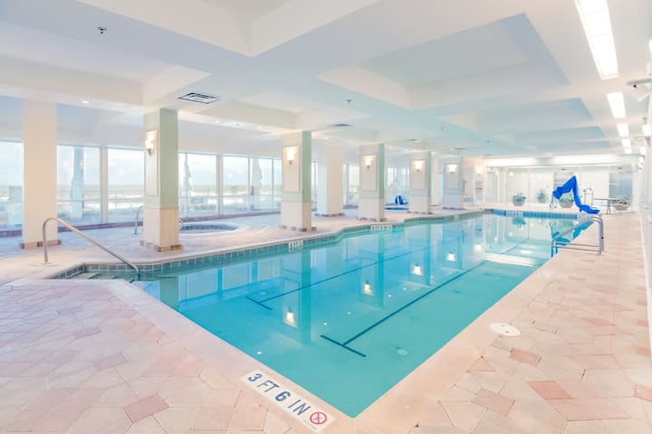 Beach View! Spacious 1 Bedroom Suite Steps From The Beach | Fitness Center On-Site + 4 Shared Pools
