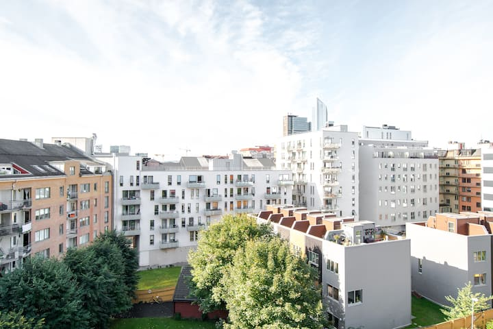 Large nice apartment in central Oslo.