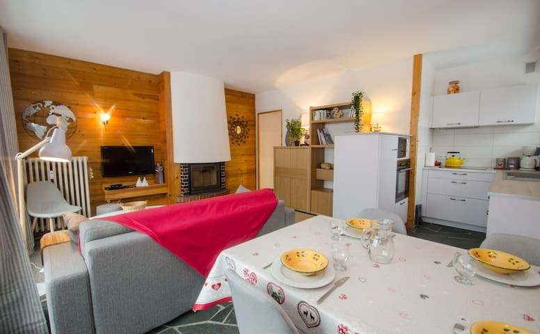Cosy 2 room close to  Flegere - view Mont-Blanc