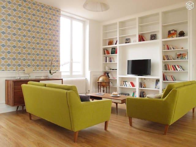 Chambre privée dans loft au coeur du beaujolais - Anse - Lägenhet