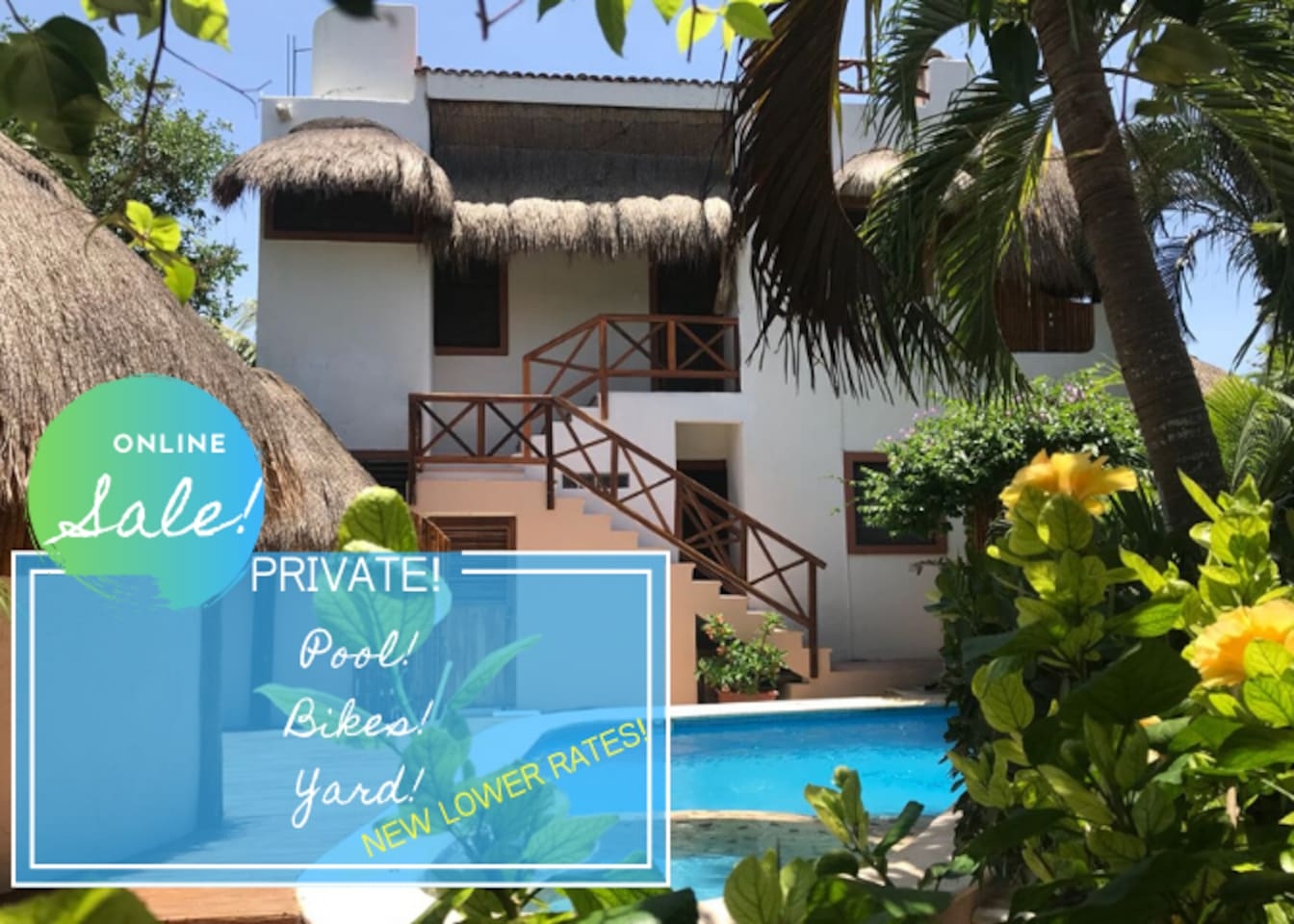 CASA GALERIA COMPOUND, MAIN BUILDING 2BR/2BA + 2 STUDIO GUEST SUITES IN ADJACENT BUILDING ACROSS FROM POOL. POOL AND GARDENS ARE SHARED SPACE.