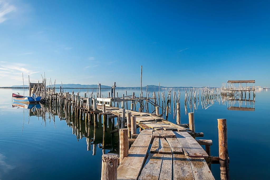 Stilts port of carrasqueira, 5 min walking from the house, where you can buy fresh fish