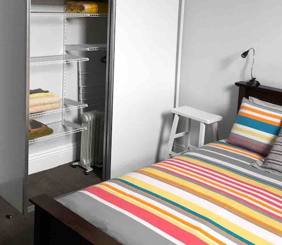 Great wardrobe space to make yourself at home