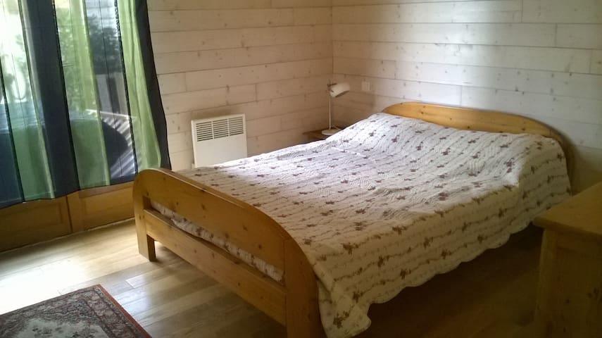 une chambre lit de deux placesl - Peyrestortes - บ้าน