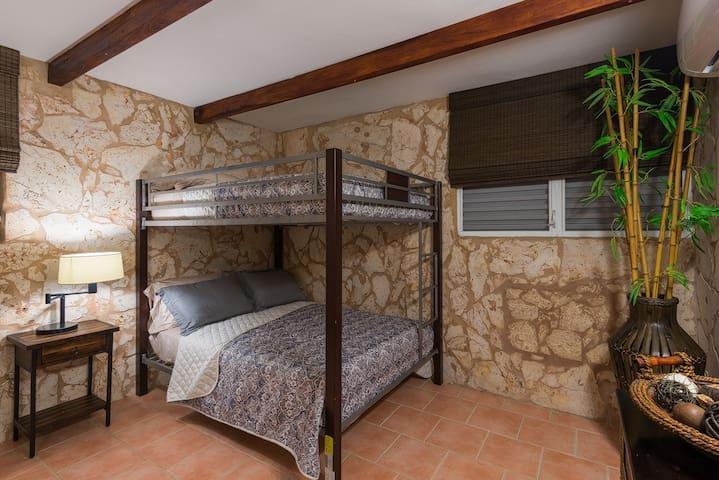 Second bedroom full/full bunk bed