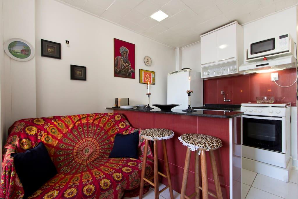 The Sofa + American Kitchen
