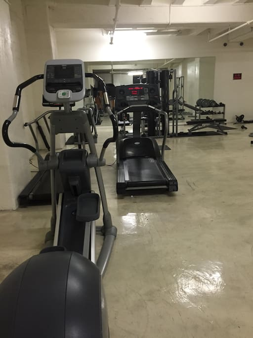 Gym in sub basement