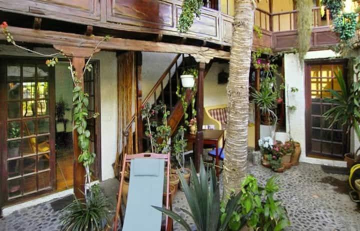 rustiek Kanaries huis op 50 meter van de oceaan