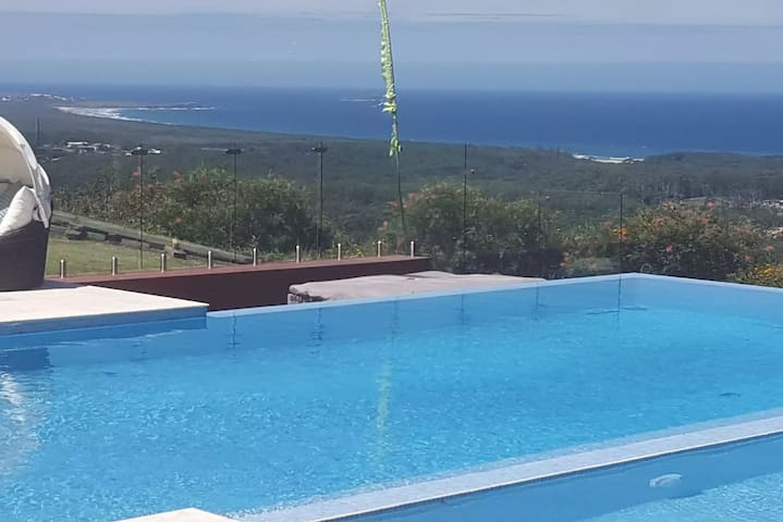 Skyview Sweeping Ocean Views. Infinity pool+Sauna - Sapphire Beach - Rumah