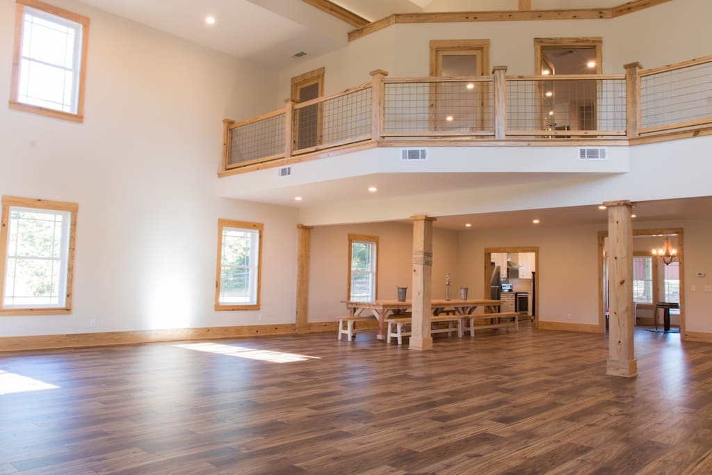 Open floor plan living room and event space