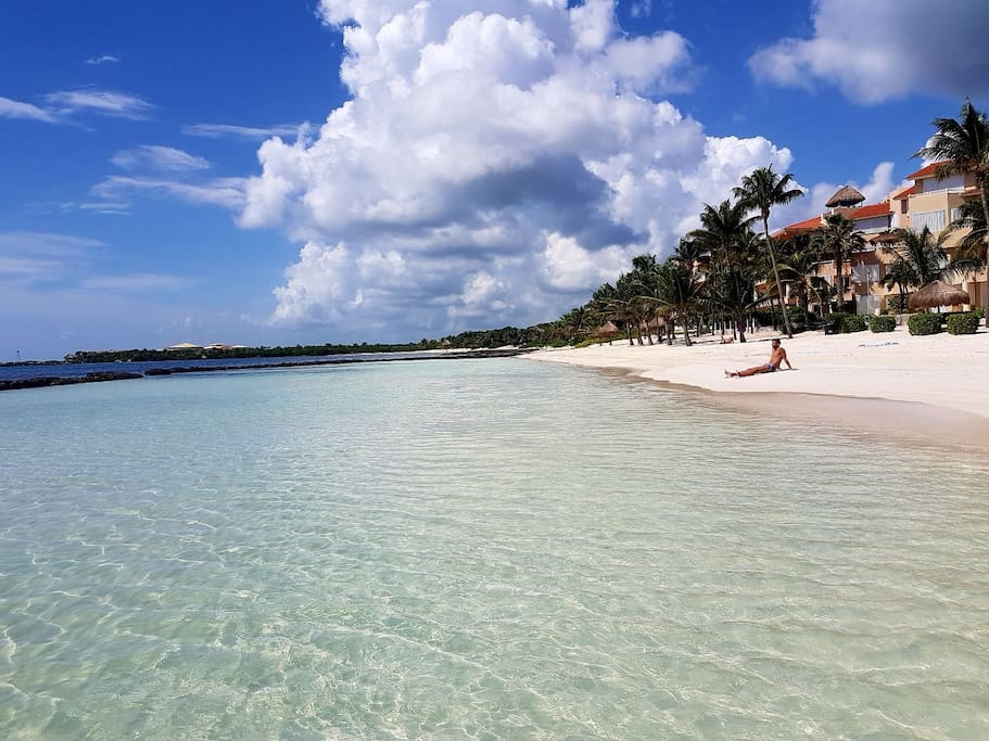 The Omni beach in Puerto Aventuras