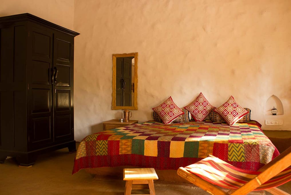 Earthy, rustic living in the spacious rooms...
