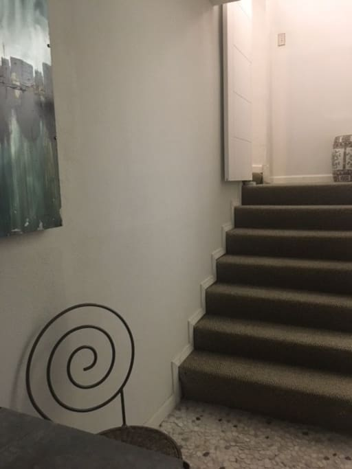 Stairway to the 2nd level Hideaway