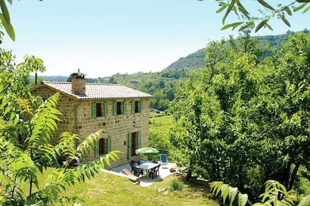 Natural stone house in stunning location with small beach at 300 metres