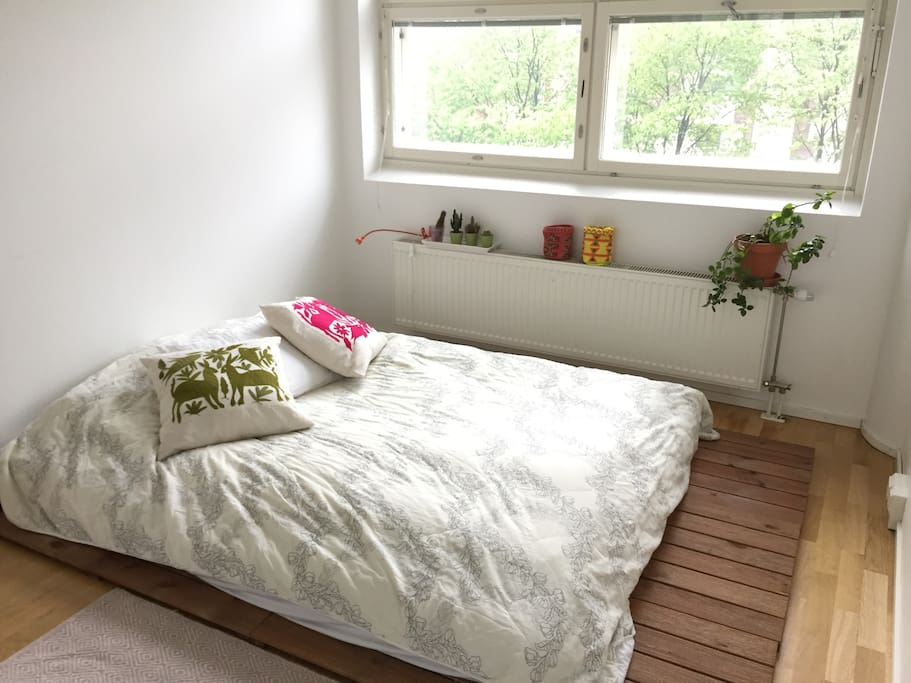 The peaceful bedroom