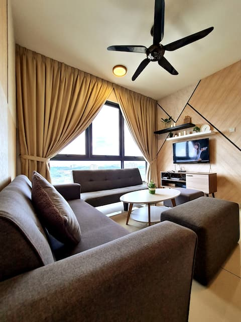 2~7 pax 3BR, Wifi,TV Box, Games, Infinity pool~
