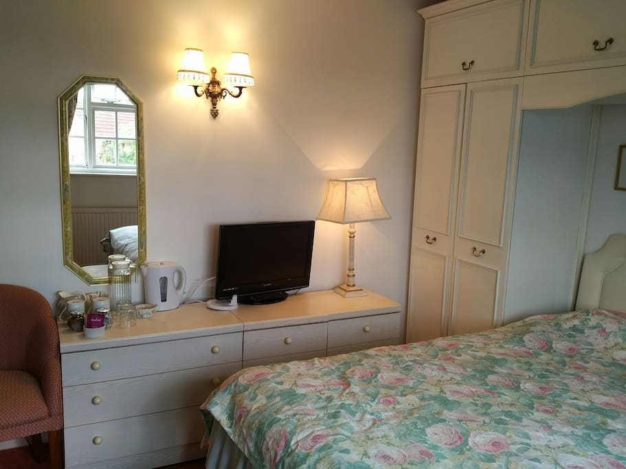 Double Room furnished with fitted wardrobes and 2 chests of drawers