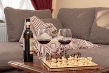 Arrive in your suite and read a book or enjoy a glass of red wine
